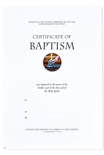 Certificate A4 Baptism Pack of 10