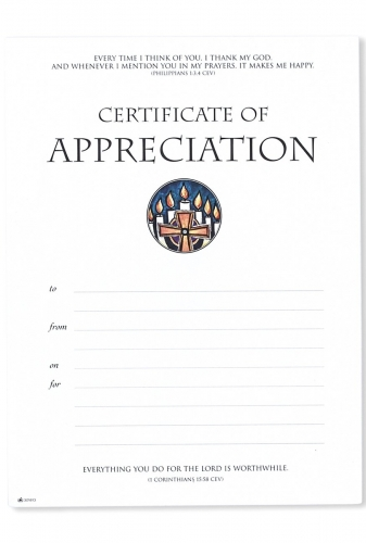 Certificate A5 Appreciation Pack of 10