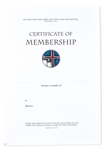 Certificate Membership Pack of 10