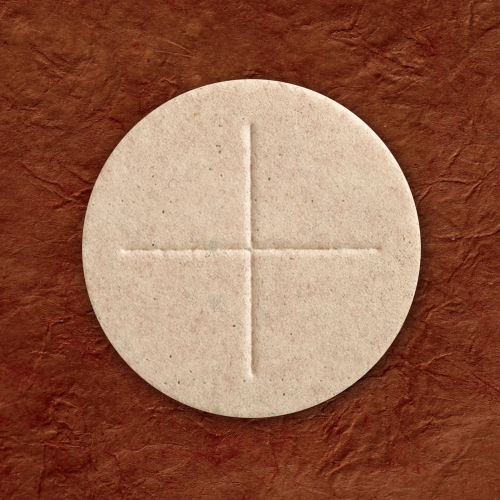 """Altar Bread Priest Wholewheat 2 3/4"""" (70mm) Box of 50"""