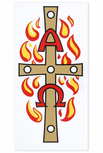 Transfer Paschal Candle Flames Alpha and Omega