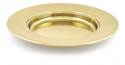 Bread Plate Brasstone 25cm Diameter Non-stacking
