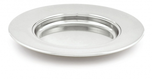 Bread Plate Silvertone 25cm Diameter Non-stacking