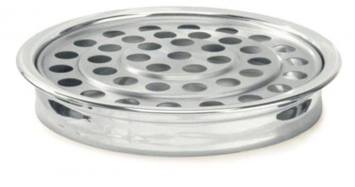 Communion Tray Silvertone 40 cup, 30cm diameter