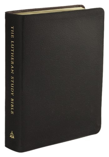 The Lutheran Study Bible Leather Black