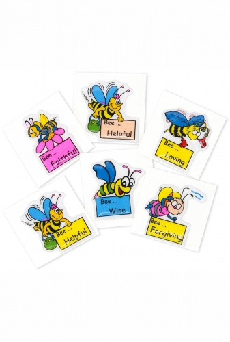 Puffy stickers Bee assorted