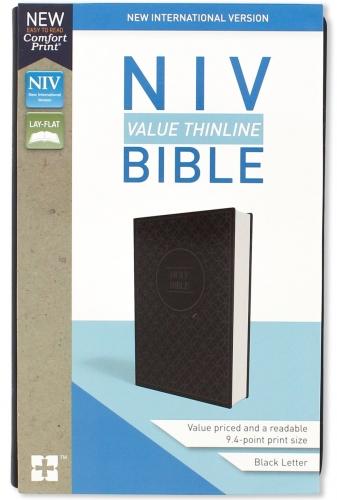 Bible NIV Value Thinline Grey/Black