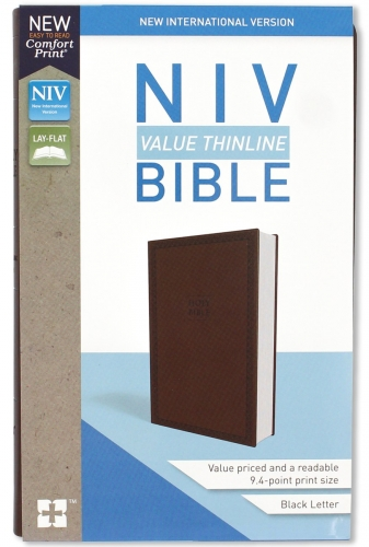 Bible NIV Value Thinline Brown
