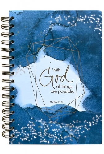 Journal Spiral Bound, With God All Things Are Possible