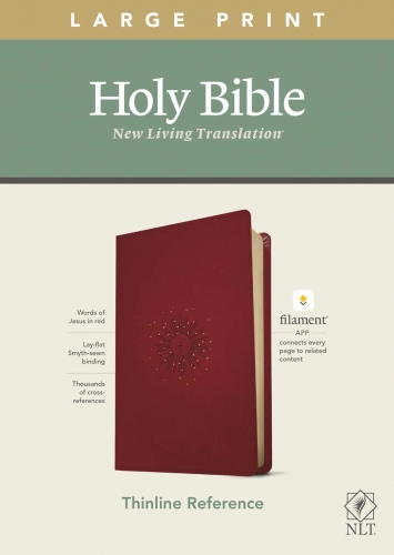 NLT Large Print Thinline Reference Bible, Filament Enabled Edition