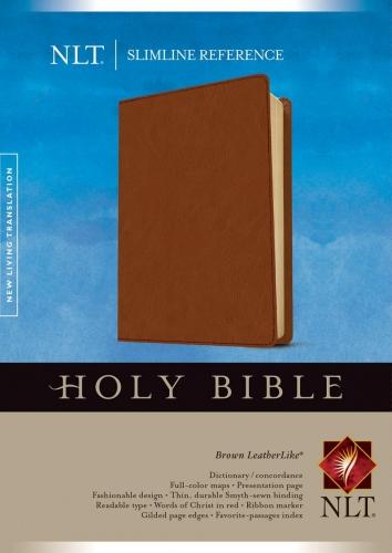 NLT Slimline Reference Bible, Brown