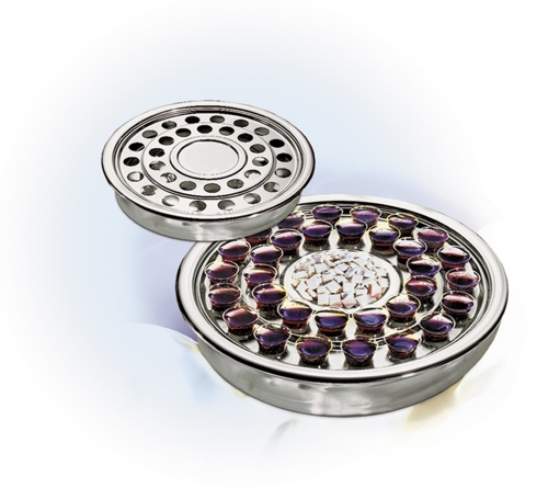 Communion Tray and Bread Plate Silvertone