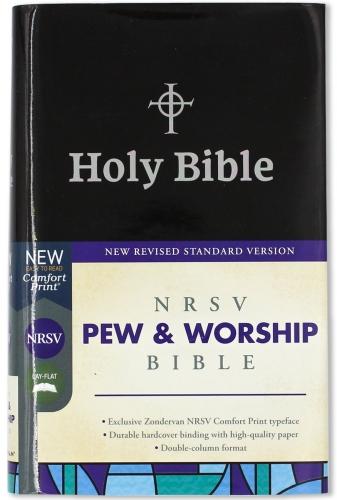 NRSV pew and worship Bible black