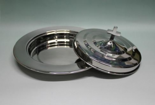 Bread Plate with Lid Stainless Steel