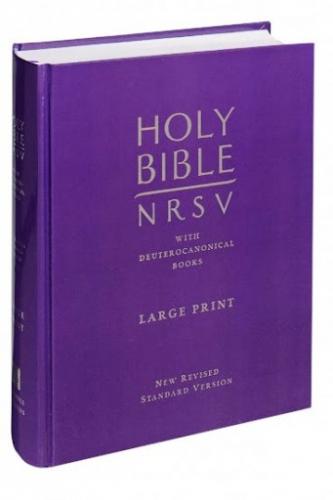 NRSV Holy Bible large print Catholic edition