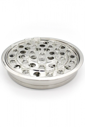 Communion Tray Stainless Steel 40 cup