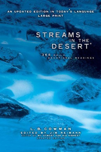Streams in the Desert Large Print