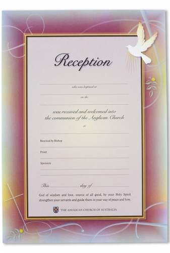 Reception Certificate