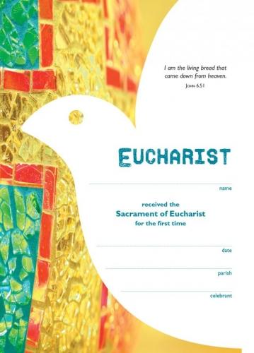 Certificate Catholic Eucharist