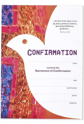 Certificate Becoming Catholic Confirmation
