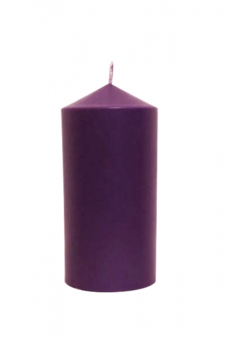 "Advent Candle Purple 6"" X 3"""
