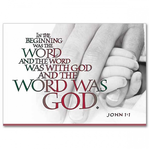 Card Christmas box of 18 John 1: 1 on front