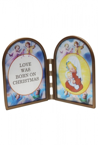 Stained Glass Ornament - Love Was Born At Christmas