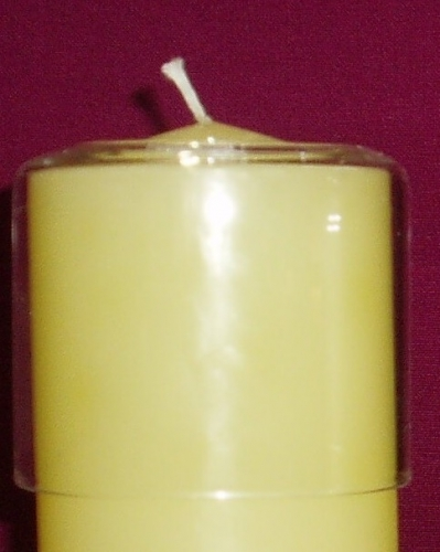 Glass candle saver 75mm