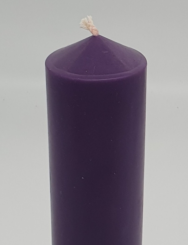 "Candle purple 10""x 2"" (250mm X 54mm)"