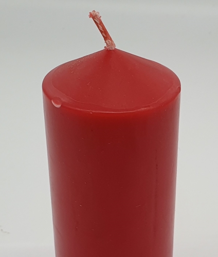 """Candle red 6"""" x 2"""" (150mm x 54mm)"""