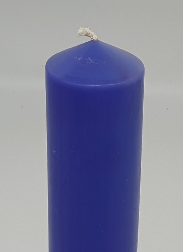 "Candle blue/purple 6"" x 2"" (150mm x 54mm)"