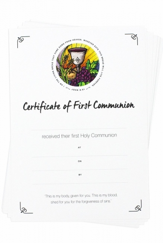 Certificate First Communion