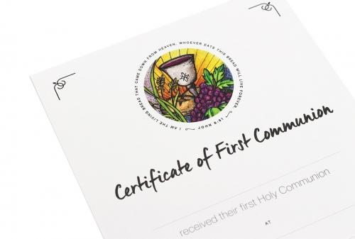 Certificate First Communion