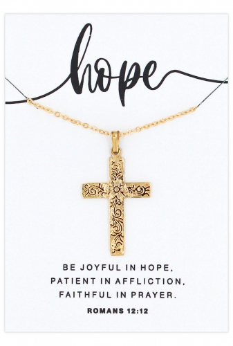 Gold Cross on Chain